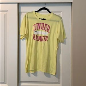 Yellow under armor t shirt